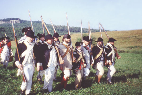 A Revolutionary War reenactment in Vermont.