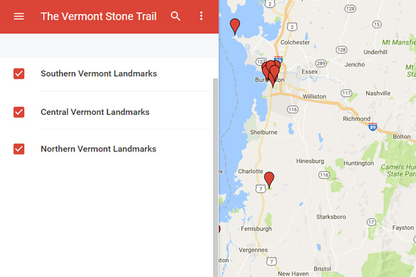 Travel Vermont Vermont Stone Trail Itineraries In Vermont - Vermont colleges map