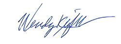 Wendy Knight's signature.