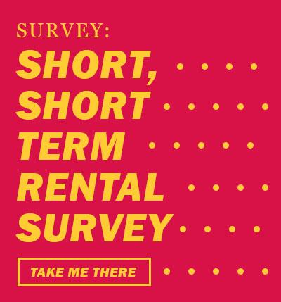 Survey on short-term rental regulation.