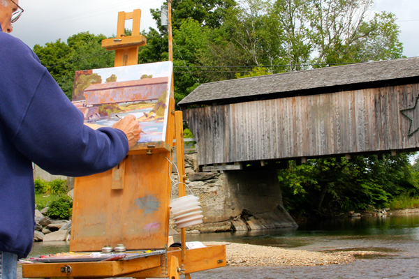 Arts and crafts and covered bridge