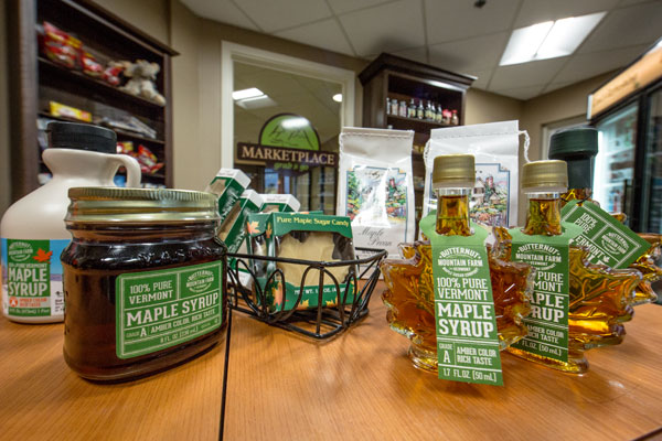 A sample of Butternut Mountain maple products.