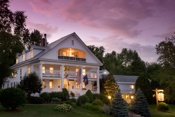 Exterior shot on Rabbit Hill Inn in Waterford, VT.