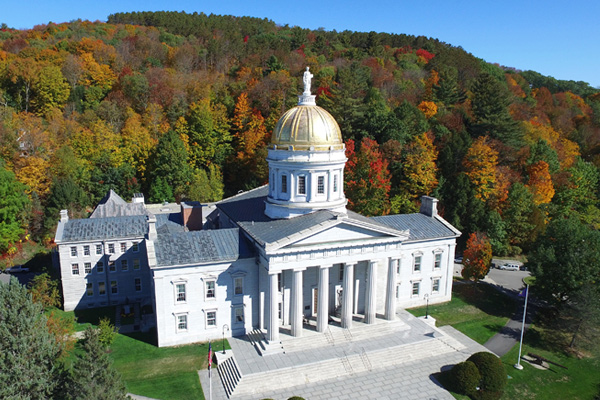 Scenic drives in Vermont - Vermont Capital Building.