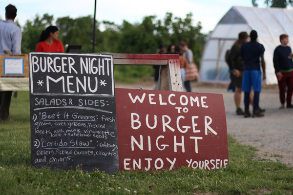 Vermont Culinary Experience - Burger night at Bread and Butter Farm.