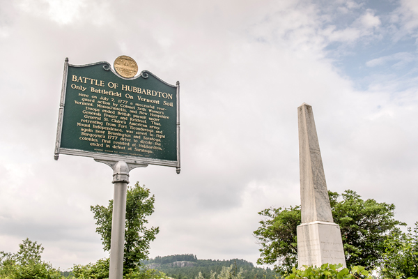 Battle of Hubbardton Historic Roadside Marker
