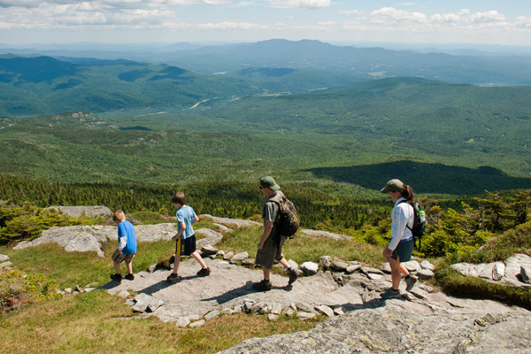 Camel's Hump is one of many family friendly hikes in Vermont.