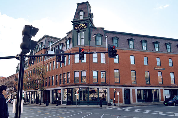 Hotel Brooks in Brattleboro, Vermont.