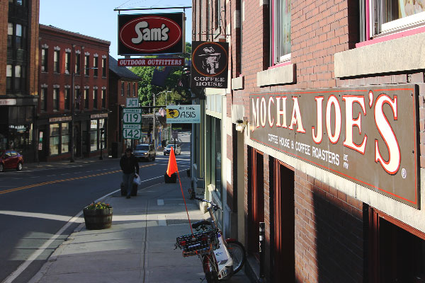 Mocha Joe's located in downtown Brattleboro.
