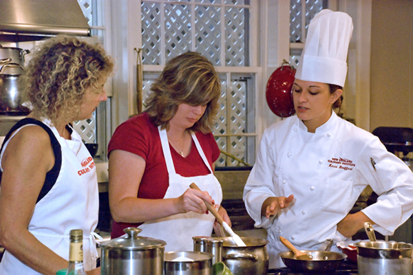 Cooking classes are offered at The Essex.