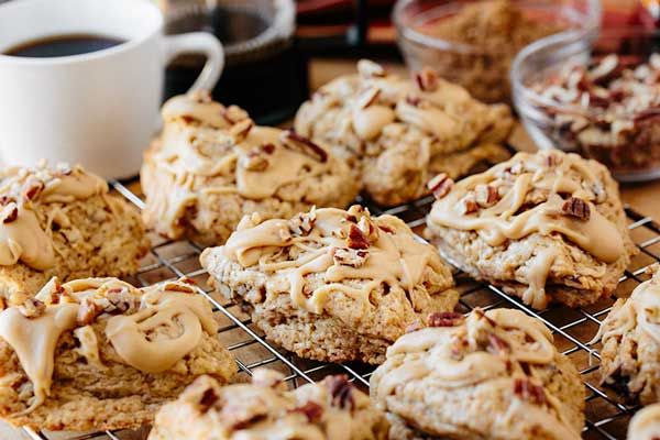 Maple pecan scones from the Brass Lantern Inn