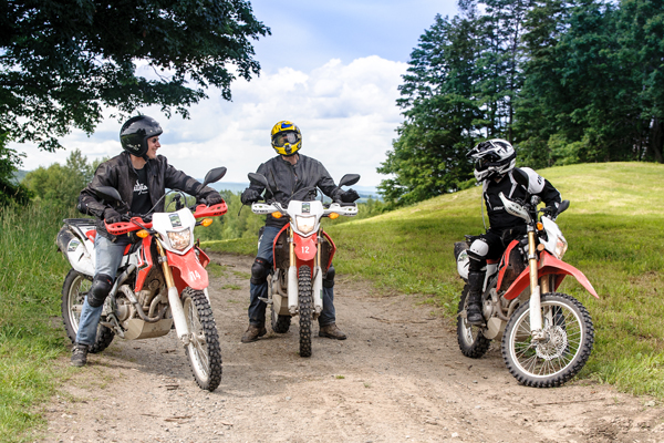 Three guys motorcycling Vermont roads. @motovermont