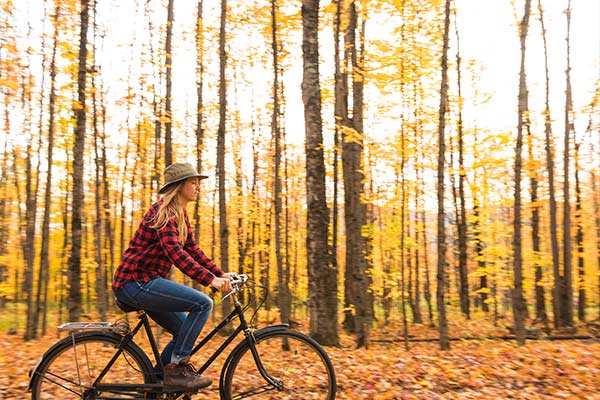 Biking During Fall Foliage