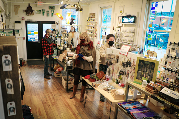 Indoor shopping in Vermont's downtown local businesses
