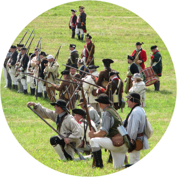 Hubbardton Battlefield State Historic Sites hosts a battle reenactment between the Americans and the British