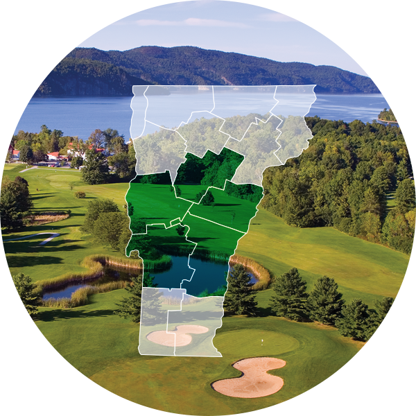 Basin Harbor Country Club with Central, VT overlay.