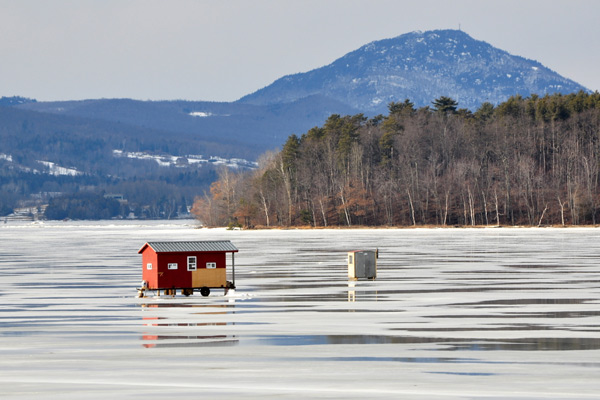 Ice Shanty on Lake Memphremagog