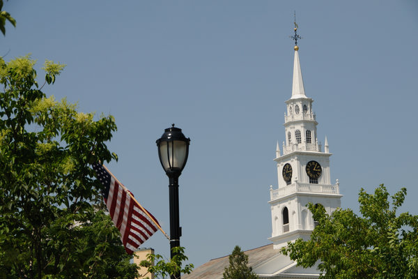 Steeple in Middlebury Vermont